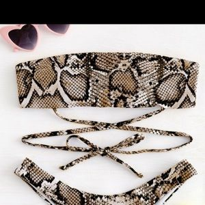 ZAFUL Snake Print Time Bandeau
